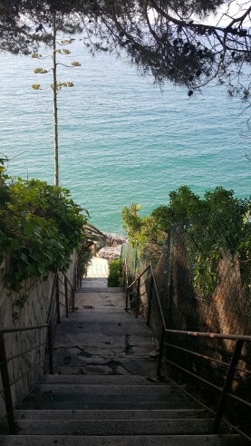 Hiking Trail Entrance in Salou, Spain